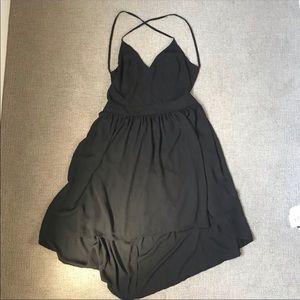 new love stitch black high-lo dress Large
